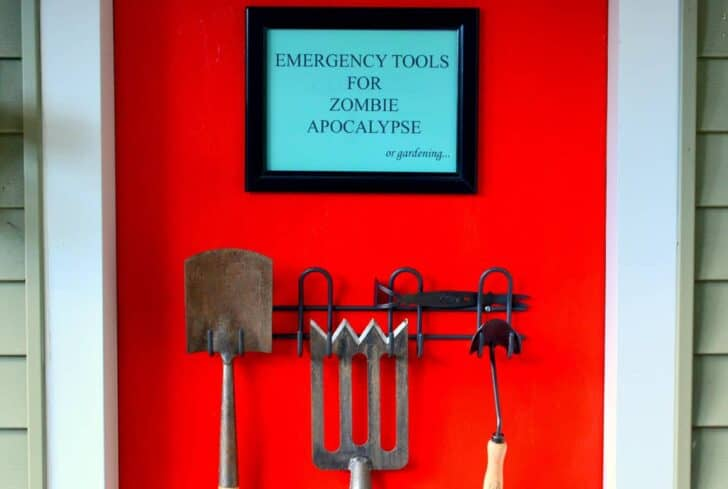 Emergency Tools For Zombie Apocalypse or Gardening Guerrilla & Urban Gardening
