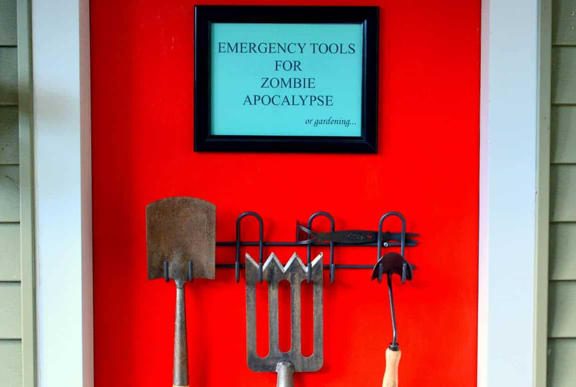 Emergency Tools For Zombie Apocalypse or Gardening - guerrilla-gardening