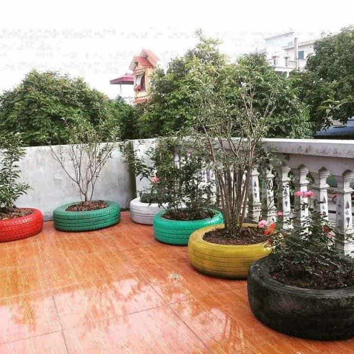 Used Tyres, New Lifes 23 - Urban Gardens & Agriculture