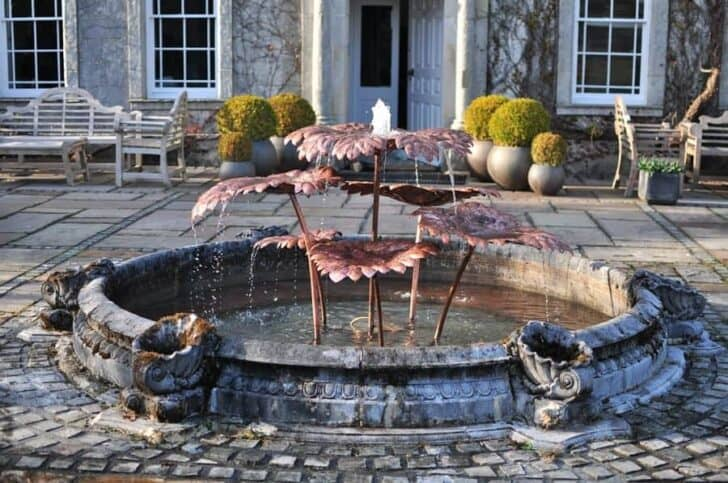 Design Copper Fountain In Cumbria Landscape by David Freedman - landscaping