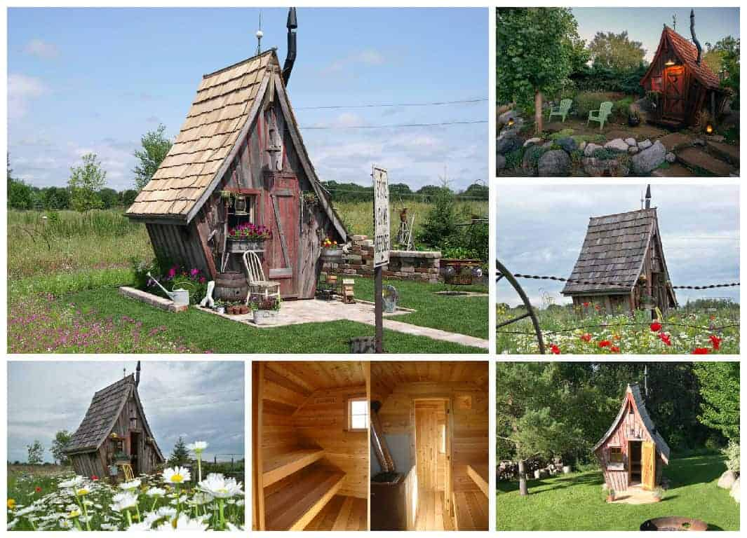The Rustic Way Whimsical Huts Built With Reclaimed Wood