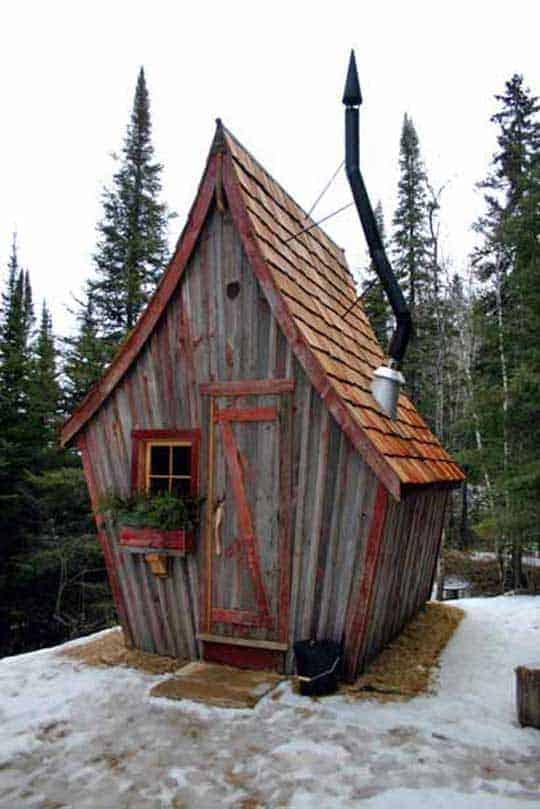 The Rustic Way Whimsical Huts Built With Reclaimed Wood 9 - Summer & Tree Houses