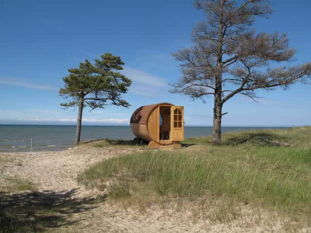 Romantic Huts Near The Seashore In Cape Kolkas, Latvia Sheds, Huts & Tree Houses