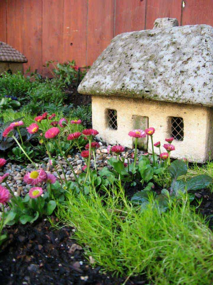 "Beautiful ""wee Village"" Garden - flowers-plants-planters"