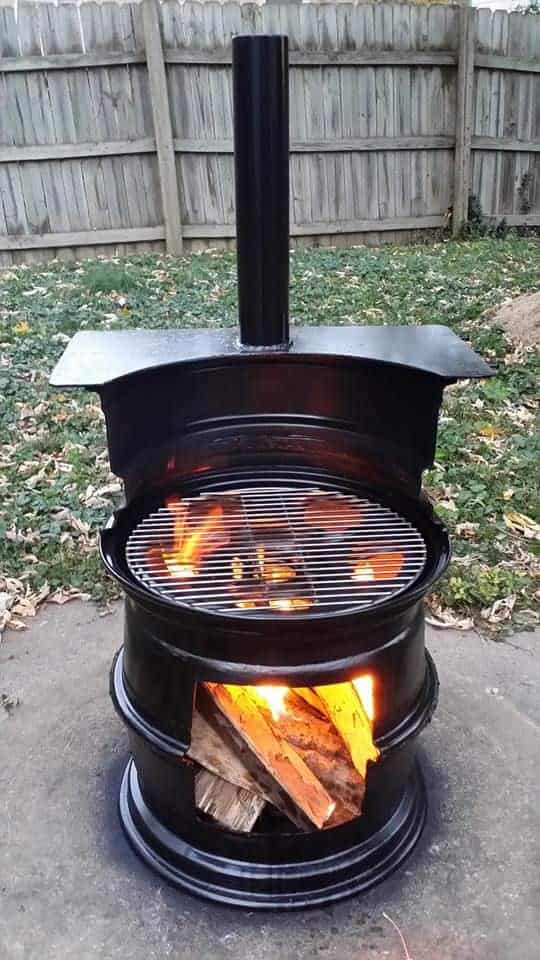 Barrel Repurposed Into Fire Pit Bbq 16 - Fire Pits & Grills