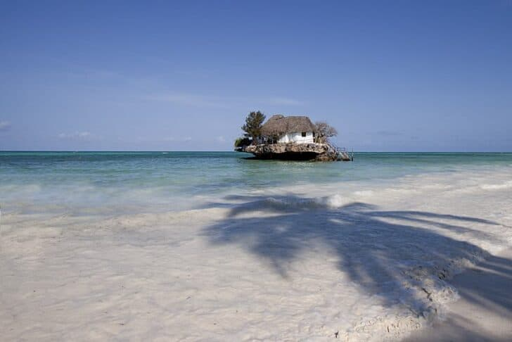 The Rock: A Restaurant Perched On a Zanzibar Rock Sheds, Huts & Tree Houses