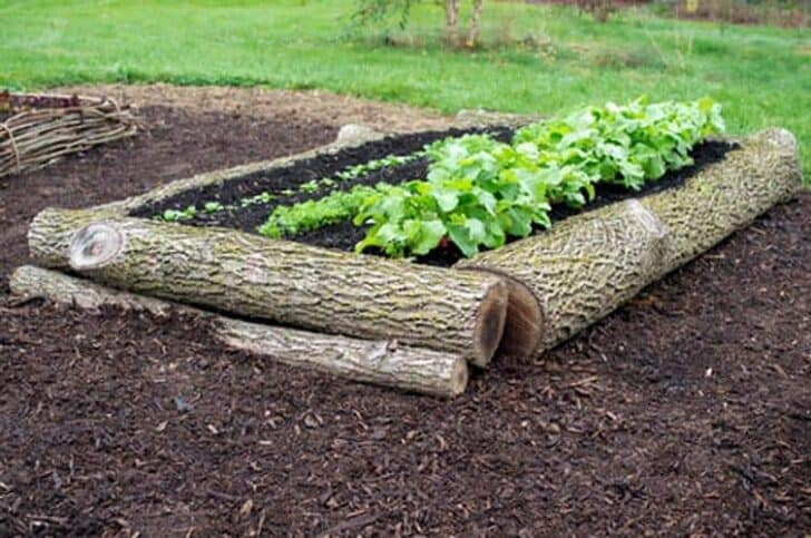 15 Tree Log Ideas for Your Garden 32 - Patio & Outdoor Furniture