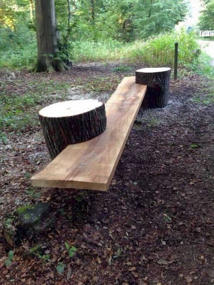15 Tree Log Ideas for Your Garden 34 - Patio & Outdoor Furniture