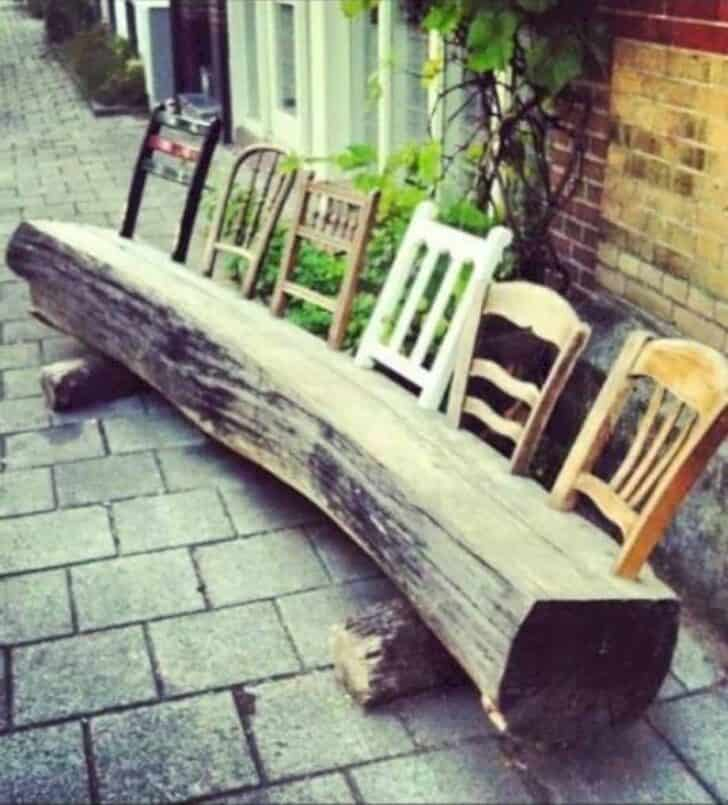 15 Tree Log Ideas for Your Garden 9 - Patio & Outdoor Furniture