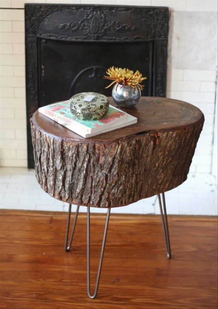 15 Tree Log Ideas for Your Garden 13 - Patio & Outdoor Furniture