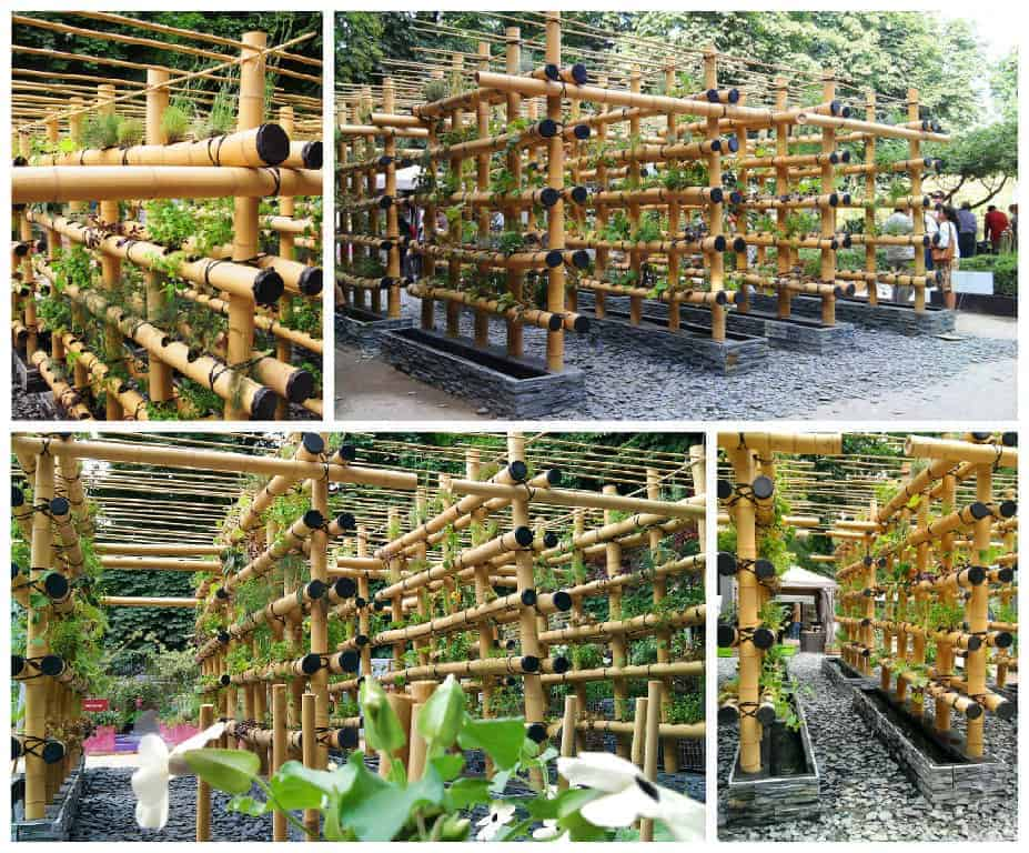 The Babylon Urban Garden Made Out of Bamboo - flowers-plants-planters