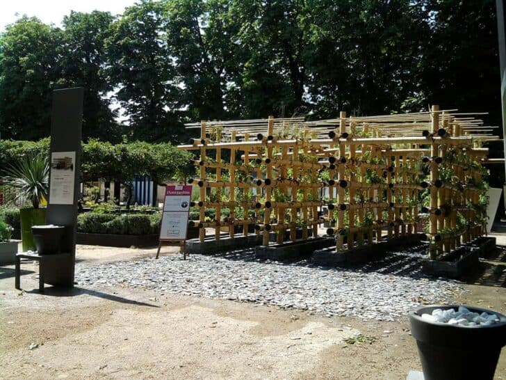 The Babylon Urban Garden Made Out of Bamboo Flowers, Plants & Planters