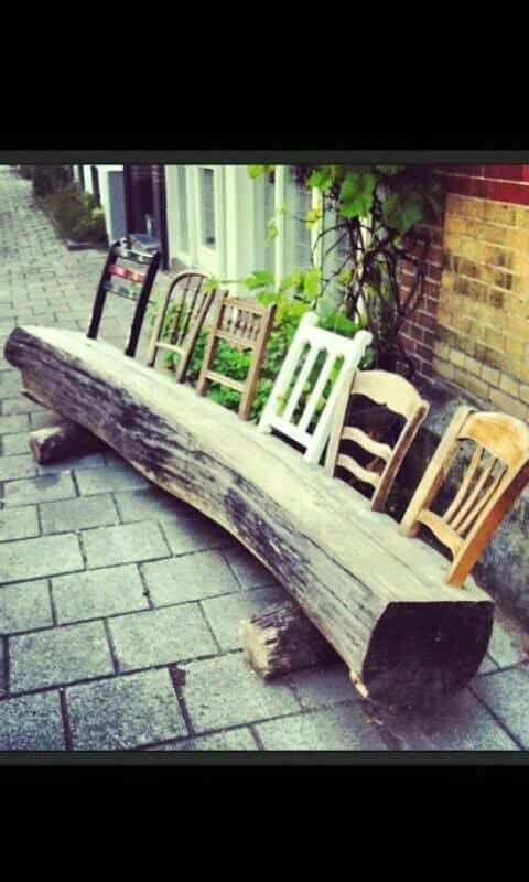 15 DIY Wood Log Ideas For Your Garden   Patio Outdoor Furniture