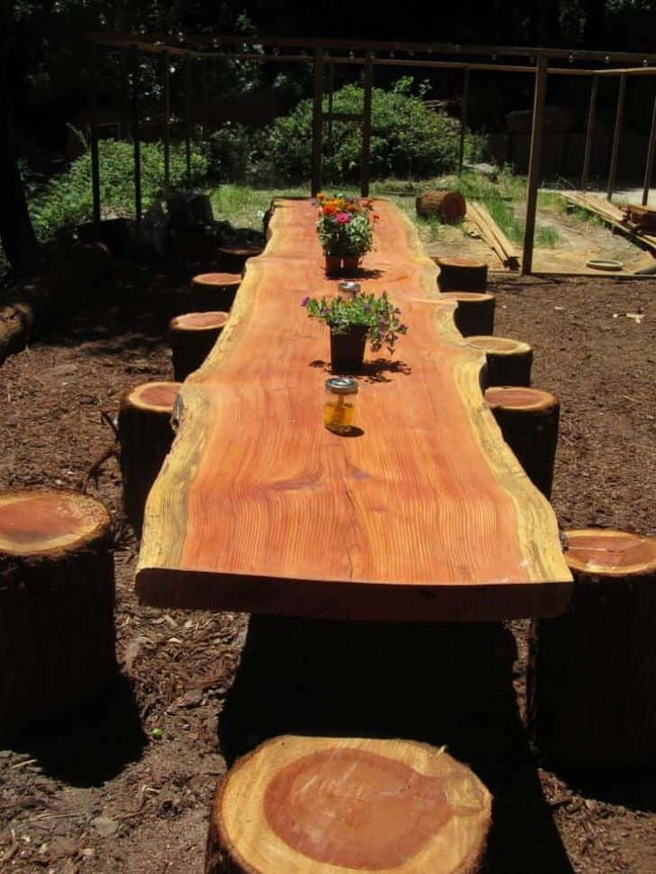 15 DIY Wood Log Ideas for Your Garden - patio-outdoor-furniture