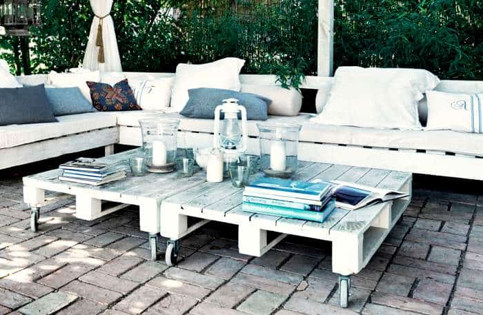 Outdoor Pallet Garden Set For Your Terrace - patio-outdoor-furniture, garden-pallet-projects-ideas