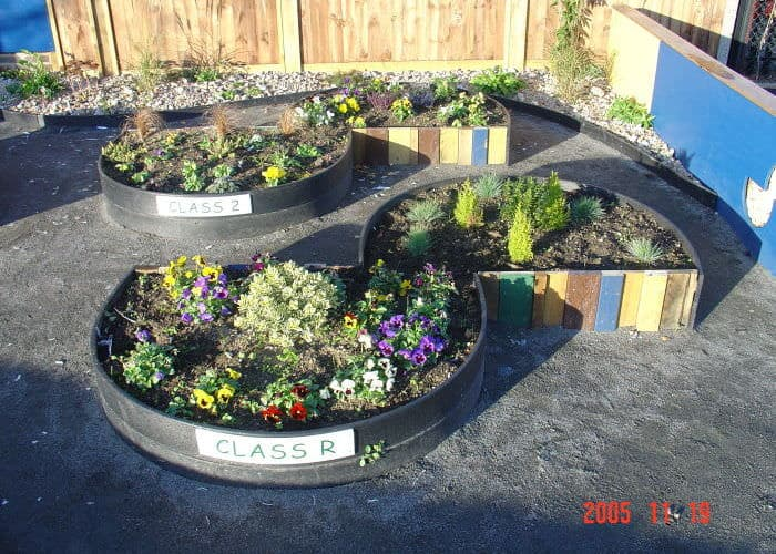 Garden Edging From Repurposed Materials   Flowers Plants Planters