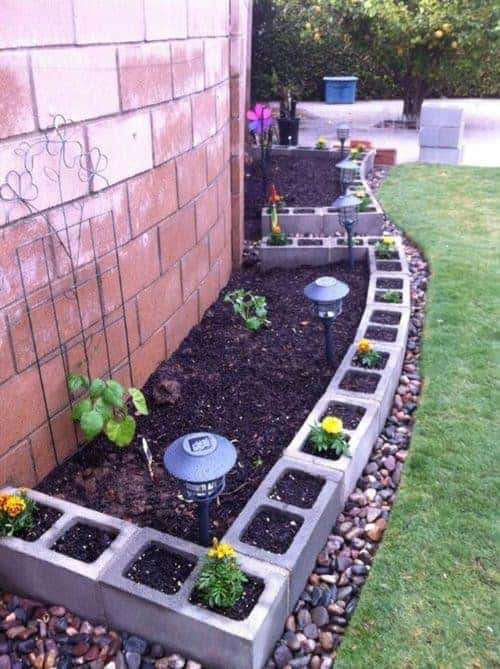 Garden Edging from Repurposed Materials Flowers, Plants & Planters