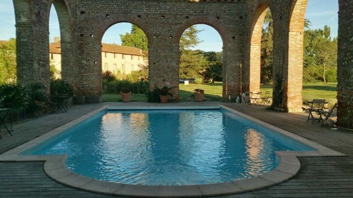Swimming Pool in an Old Abbey - pools-spas