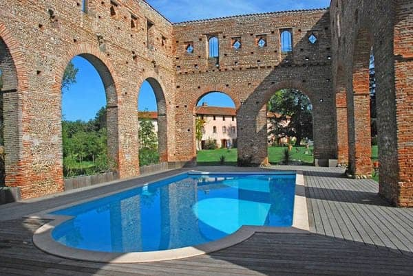 Swimming Pool in an Old Abbey Pools & Spas
