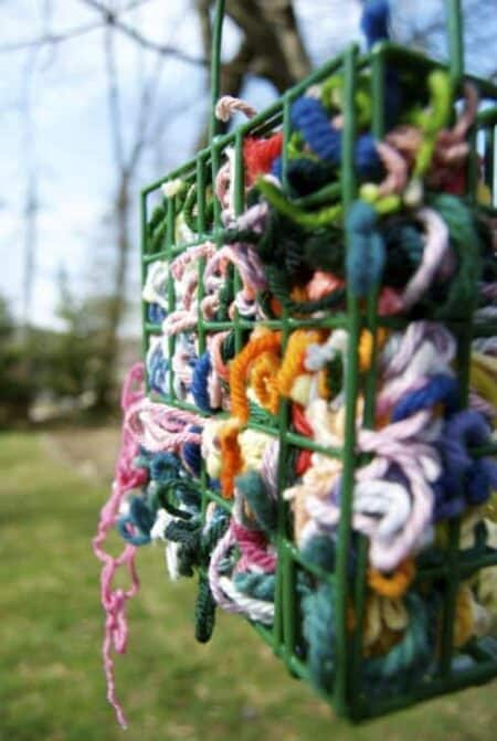 Yarn Scraps to Provide Nesting Materials for All the Birds in Your Area. 2 - Bird Feeders & Houses