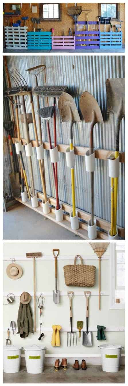 12 Garden Tool Storage Racks You Can Easily Make 4 - Sheds & Outdoor Storage - 1001 Gardens