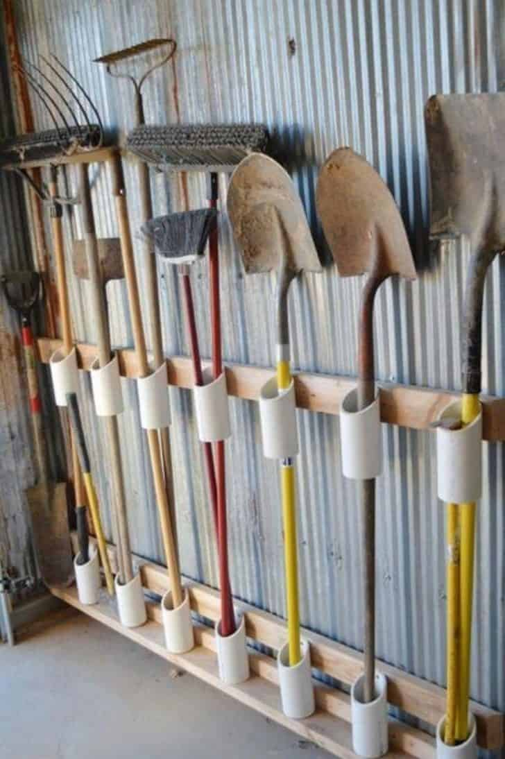 12 Garden Tool Storage Racks Easy to Make 6 - Sheds & Outdoor Storage