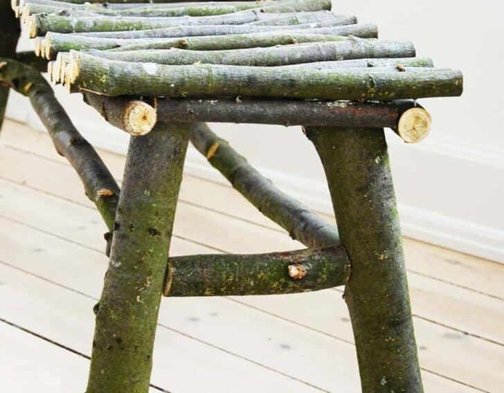 Diy : How to Make a Twig Bench Patio & Outdoor Furniture
