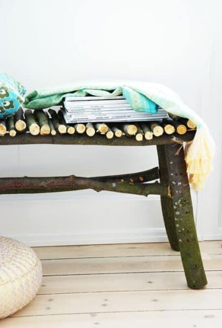 Diy : How to Make a Twig Bench 19 - Patio & Outdoor Furniture
