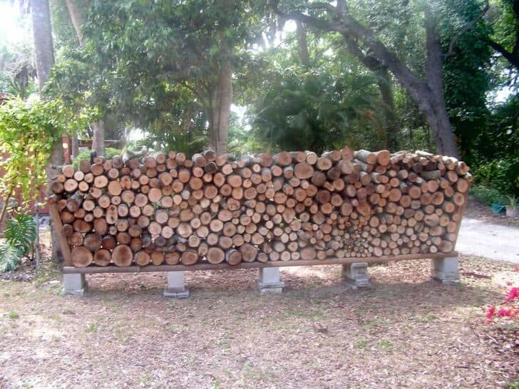 Easy Outdoor DIY Firewood Rack from Cinder Blocks - grills-bbq-firepits