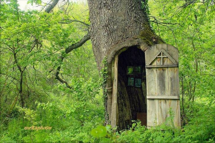 Oak Chapel in Serbia Sheds, Huts & Tree Houses