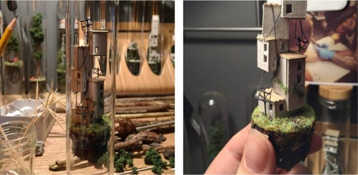 Micromatter by Rosa De Jong: Miniatures in Glass Test Tubes - garden-decor