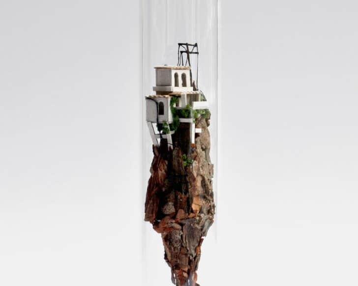 Micromatter by Rosa De Jong: Miniatures in Glass Test Tubes Garden Decor