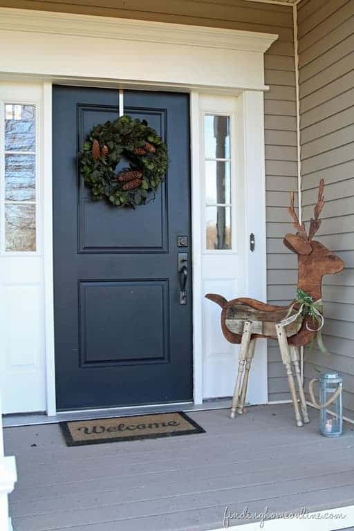 How to Make a Reclaimed Wood Reindeer - garden-decor
