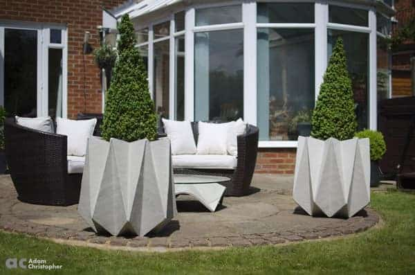 Large Origami Concrete Planters 1001 Gardens