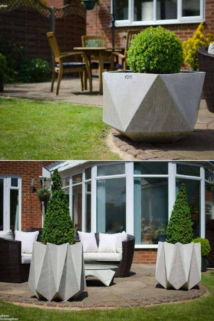 Large-Origami-Concrete-Planters Diy Backyard Landscape Ideas on diy outdoor ideas, simple backyard ideas, diy backyard gardening, diy desert landscaping ideas, diy small yard makeover, awesome backyard ideas, diy landscape lighting ideas, diy gardening ideas, country backyard landscaping ideas, low-budget backyard ideas, diy patios ideas, diy backyard desert landscaping, diy pavers ideas, small backyard pool landscaping ideas, diy backyard designs, diy backyard landscaping on a budget, diy bamboo landscape ideas, diy water features ideas, diy landscape planning, diy yard ideas,