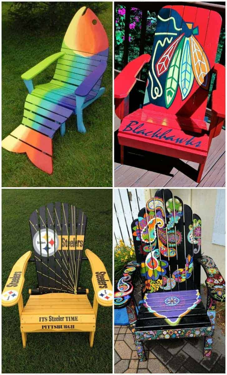 10 Adirondack Chair Decor Ideas for Your Patio - patio-outdoor-furniture, garden-pallet-projects-ideas