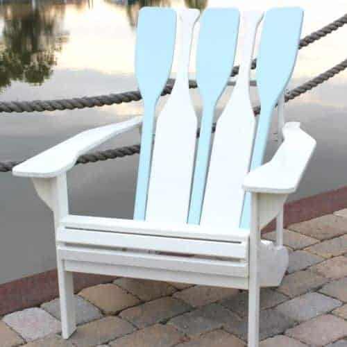 Elegant 1 U2013 Adirondack Chair With A Beach Themed Flair