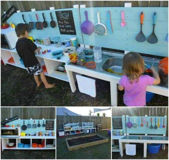 10 fun outdoor mud kitchens for kids garden ideas 1001 10 diy play kitchen ideas housing a forest