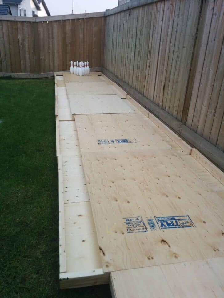 Amazing DIY Backyard Bowling Alley