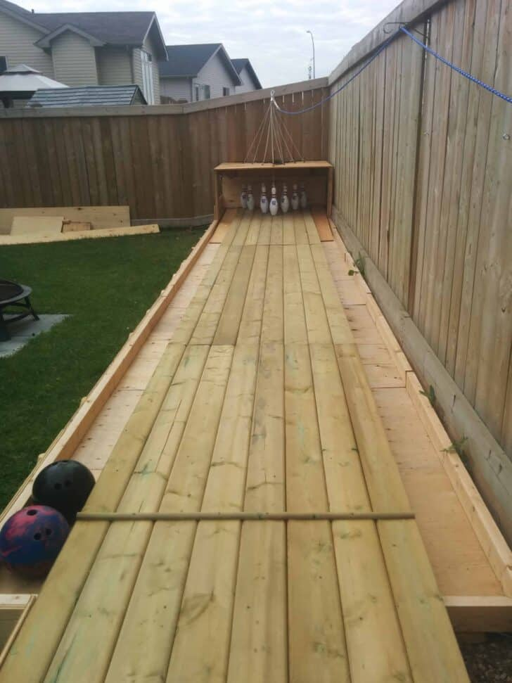 Amazing DIY Wood Backyard Bowling Alley • 1001 Gardens