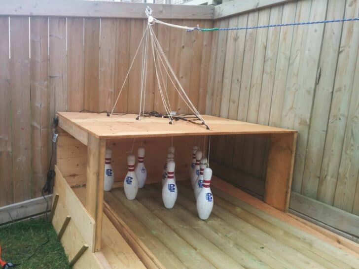 Amazing DIY Wood Backyard Bowling Alley Patio & Outdoor Furniture