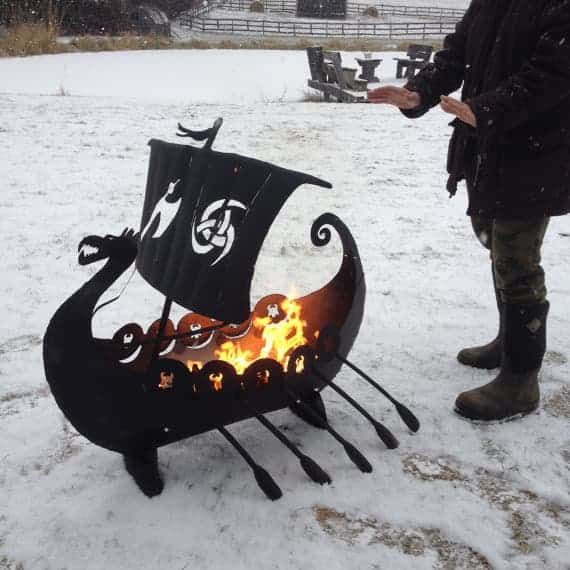 Amazing Metal Viking Ship Fire Pit