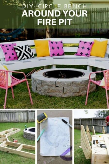 DIY: Circle Bench Around Your Fire Pit 2 - Pallets Projects & Furniture
