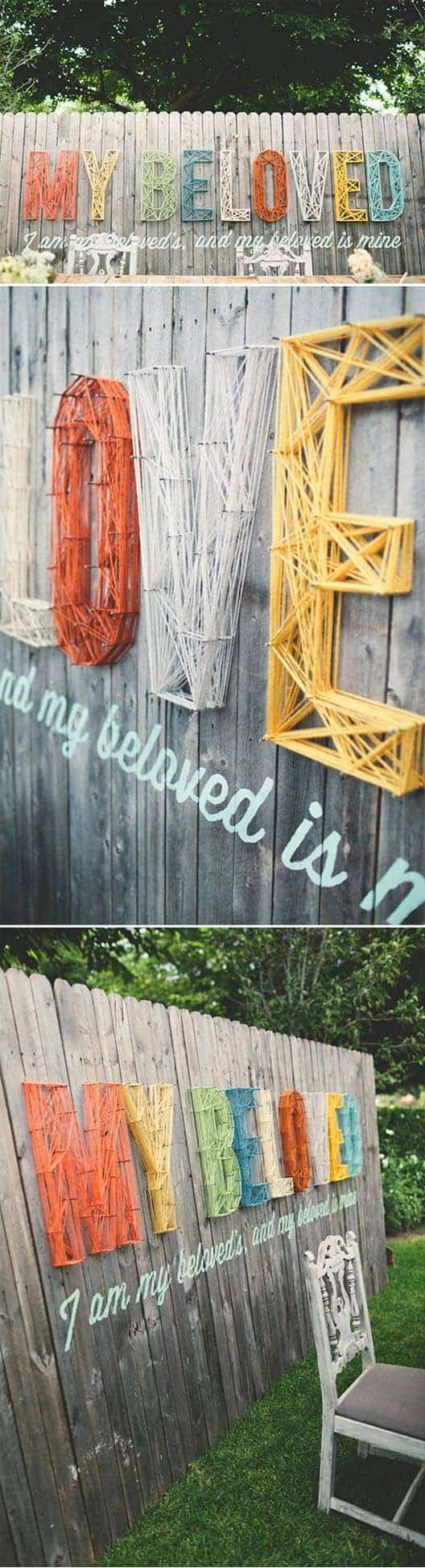 Garden Fence String Art Decor Fences