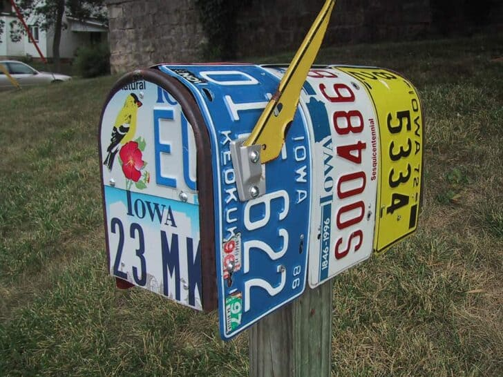 Old Plates Don't Die They Just Mailbox Away! Mailboxes