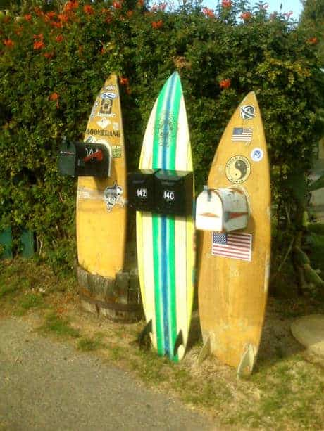 Surfboard Mailboxes