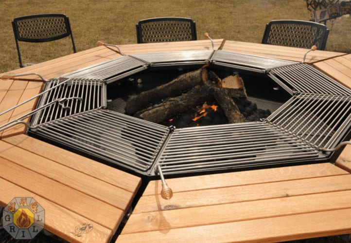 The Ultimate Fire Pit and Table Combo Grill