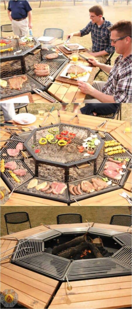 The Ultimate Fire Pit Bbq and Table Combo Grill 1