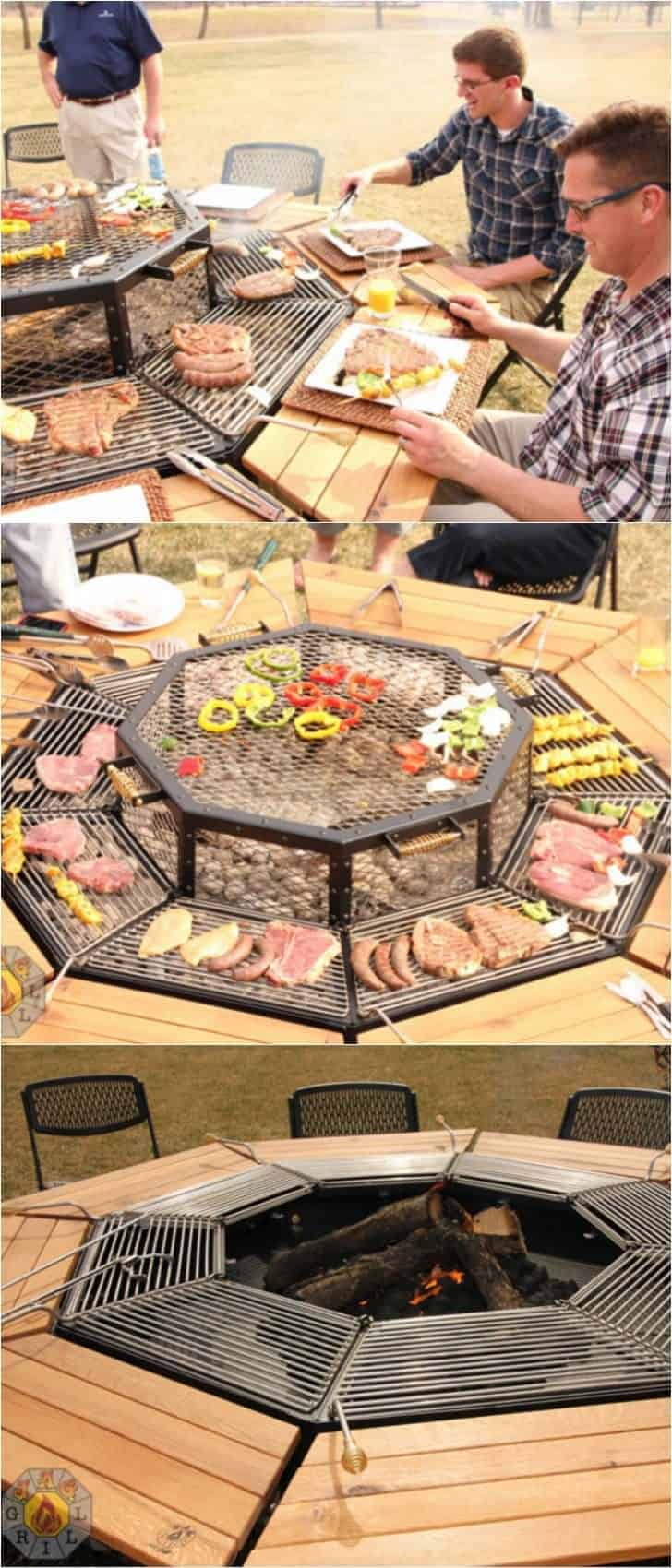 The Ultimate Fire Pit Bbq and Table Combo Grill