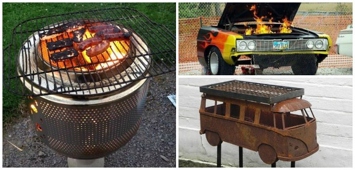 10 Creative Recycling Diy Grill Bbq And Fire Pit Projects